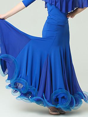 Standardní tance Spodní část oděvu Dámské Výkon Viskóza Nařasený Jeden díl Přírodní Sukně Skirt M:86cm L:88cm XL:90cm