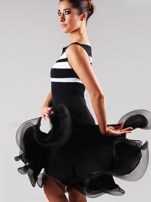 ריקוד לטיני שמלות בגדי ריקוד נשים ביצועים ספנדקס עטוף חלק 1 שמלות Dress length S-XXL: 105cm