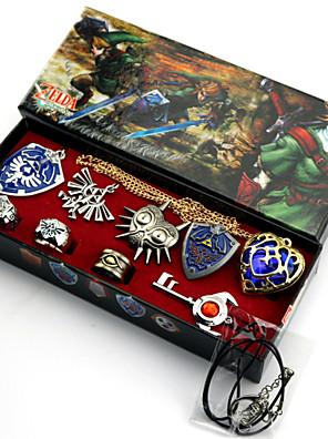 ημέρα του Αγίου Βαλεντίνου δώρο ο θρύλος του Zelda κράμα σήμα / δαχτυλίδι περισσότερα αξεσουάρ κολιέ (9pcs)