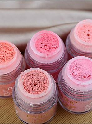 5 Blush Secos PóGloss com Purpurina Brilhante / Gloss Colorido / Humidade / Controlo de Óleo / Longa Duração / Corretivo / Peles com
