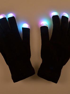 מתנת חג האהבה יצירתי לאור מנורת ביצועי אבזר כפפת איפור אור כפפות זוהר התלבושות ססגוניות הוביל