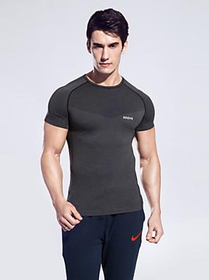 ריצה צמרות לגברים שרוול קצר נושם / ייבוש מהיר / תומך זיעה מחנאות וטיולים / איגרוף / רכיבה על סוס / כושר גופני / ריצה ספורטיבי בגדי ספורט