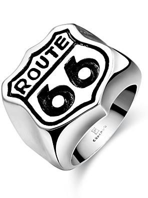 Gyűrűk Divat Parti Ékszerek Acél Női Vallomás gyűrűk 1db,Egy méret Fekete