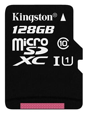 128GB בכיתה המקורית קינגסטון 10 כרטיס זיכרון מיקרו SD microSDHC tf פלאש במהירות גבוהה אמיתית