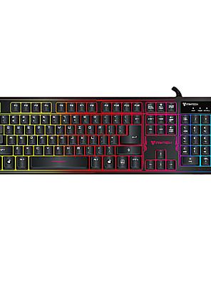 ajazz k9 regnbue baggrundsbelyst lysende usb wired gaming tastatur