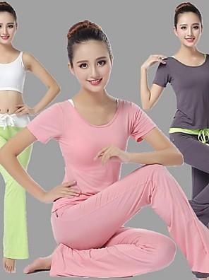 Ioga Conjuntos de Roupas/Ternos Respirável / Suavidade Stretchy Wear Sports Mulheres-Esportivo,Ioga / Pilates