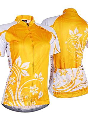 NUCKILY® חולצת ג'רסי לרכיבה לנשים שרוול קצר אופנייםנושם / עמיד אולטרה סגול / חדירות ללחות / תיק קטל מובנה / לביש / רך / תחושה מוחזקת /
