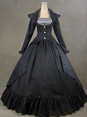 top försäljning gotisk lolita svart festklänning för vintageVictorianPre belle dress