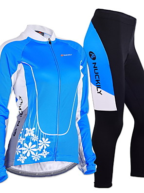 NUCKILY® חולצה וטייץ לרכיבה לנשים / לגברים שרוול ארוך אופנייםנושם / שמור על חום הגוף / עמיד / עיצוב אנטומי / בטנת פליז / מבודד / חדירות