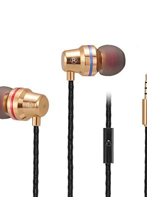 abingo S500i kovové špunty do uší stereo basové mobilní telefon sluchátka s mikrofonem pro smartphone