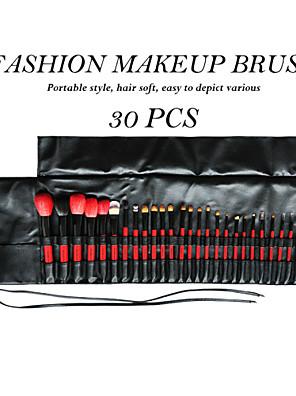 30 Conjuntos de pincel Escova de Cabelo Mink / Escova Doninha / Escova de Cerdas / Escova de Cabelo de CabraProfissional / Cobertura