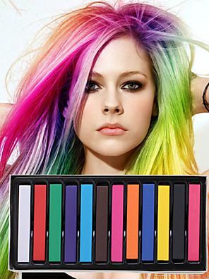 12 kleuren tijdelijke krijt krijtjes voor haar niet-giftige haarkleurmiddelen pastels plakken diy styling tools