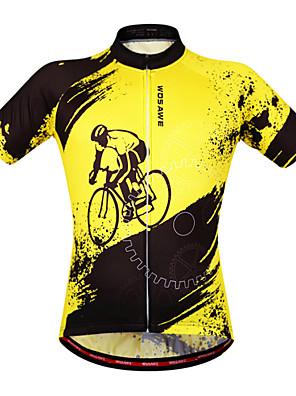 Wosawe® Camisa para Ciclismo Mulheres / Unissexo Manga Curta Moto Respirável / Secagem Rápida / Design Anatômico / Permeável á Humidade