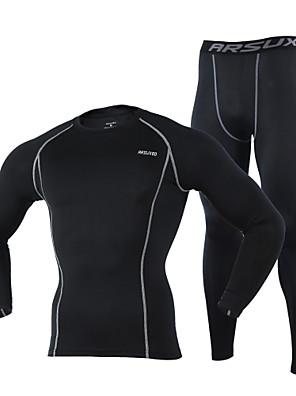 Arsuxeo® Calça com Camisa para Ciclismo Homens Manga Comprida MotoRespirável / Mantenha Quente / Secagem Rápida / Materiais Leves /