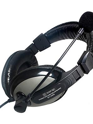 SENICC ST-2688 Over-Ear Headphone woth Mic e remoto para PC / iPhone / Samsung / HTC