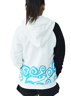 קיבל השראה מ Gintama Gintoki Sakata אנימה תחפושות קוספליי קפוצ'ון Cosplay דפוס לבן שרוולים ארוכים מעיל