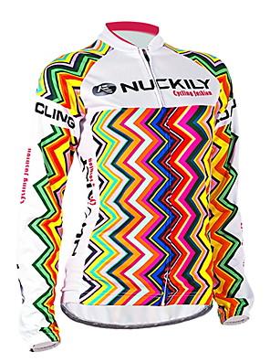 NUCKILY® חולצת ג'רסי לרכיבה לנשים שרוול ארוך אופנייםנושם / עמיד / עיצוב אנטומי / עמיד אולטרה סגול / חדירות ללחות / תיק קטל מובנה / לביש /
