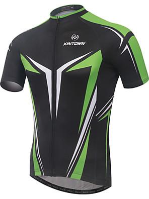 XINTOWN® חולצת ג'רסי לרכיבה לגברים שרוול קצר אופניים נושם / ייבוש מהיר / עמיד אולטרה סגול / דחיסה / חומרים קלים ג'רזי / צמרותאלסטיין /