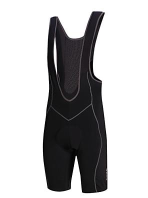 SANTIC® מכנס קצר ביב לרכיבה לגברים אופניים נושם / 3D לוח מכנסיים קצרים עם כתפיות / שורטים (מכנסיים קצרים) מרופדים SBR / Coolmax אחידאביב