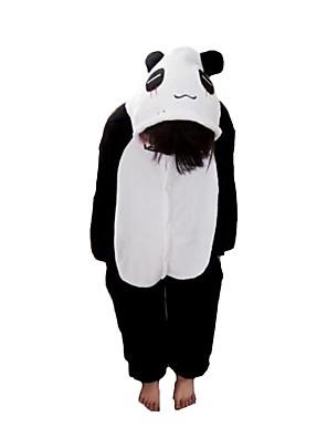 Kigurumi Pyjama  Panda Gympak/Onesie Festival/Feestdagen Animal Nachtkleding Halloween Zwart/Wit Patchwork Flanel Kigurumi Voor Kind