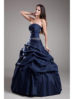 ts couture® formell klänning balklänning axelbandslös golv längd taft med beading / plocka upp kjol