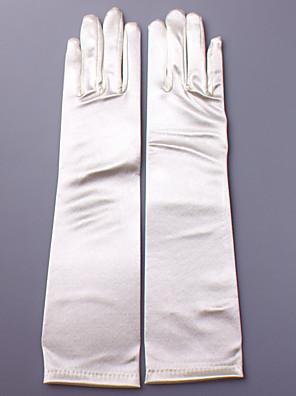 Ellebooglengte Vingertoppen Handschoen Satijn Bruidshandschoenen / Feest/uitgaanshandschoenen Lente / Herfst / Winter Appliqué