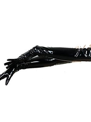 Rukavice Ninja Zentai Cosplay kostýmy Černá Jednobarevné Rukavice PVC Unisex Halloween / Vánoce