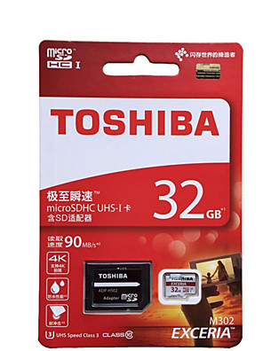 eredeti toshiba 32gb Class10 90MB / s UHS-U3 microSDHC TF memóriakártya 4k vízálló + SD adapter