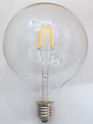 1 pç kwb E26/E27 7W / 8W 8 COB 750 lm Branco Quente G125 edison Vintage Lâmpadas de Filamento de LED AC 220-240 V