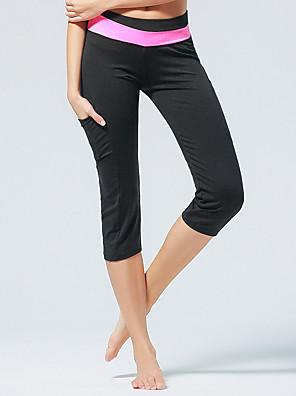 Corrida Cropped / Calças / 3/4 calças justas / Fundos Mulheres Respirável Poliéster / ElastanoIoga / Pilates / Taekwondo / Exercicio e