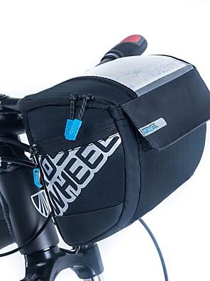 ROSWHEEL® Cyklistická taška 3LBrašna na řídítka Voděodolný zip / Odolný proti vlhkosti / Odolné vůči šokům / Nositelný Taška na koloPU