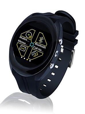 Edelstahl runden intelligente Uhr Telefon mit SIM-Kartensteckplatz und Multimedia