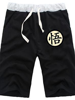 קיבל השראה מ Dragon Ball Goku אנימה תחפושות קוספליי חולצות קוספליי / תחתון אחיד שחור / אפור מכנסיים קצרים