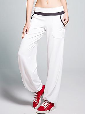 calças de yoga Calças Respirável / Sem Eletricidade Estática / Redutor de Suor Natural Stretchy Wear Sports Branco / Vermelho / Preto