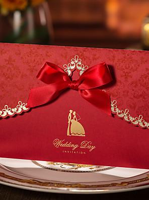 Gepersonaliseerde Drie-voudige Vouw Uitnodigingen van het Huwelijk Verlovingsfeest uitnodigingen / Uitnodigingskaarten-50 Stuk/Set