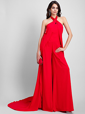 2017 TS נדן רשמי couture® שמלת הערב / טור קולר משפט רכבת שיפון