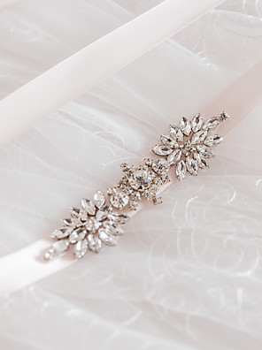 Satin Wedding / Party/ Evening / Dailywear Sash - Sequins / Beading / Rhinestone Women's Sashes
