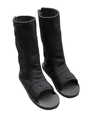 מגפי קוספליי Naruto Boruto אנימה נעלי קוספליי שחור Terylene יוניסקס