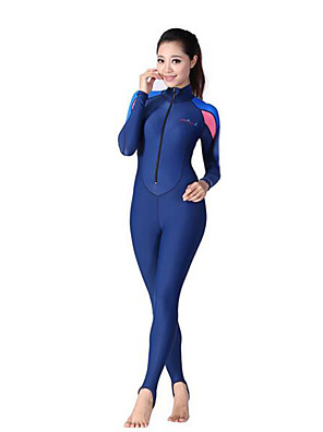 Outros Mulheres Roupas de Mergulho Fato de Mergulho Compressão Roupas de mergulho 2,5-2,9 mm Azul XXS / XS / S / M / L / XL / XXL Mergulho