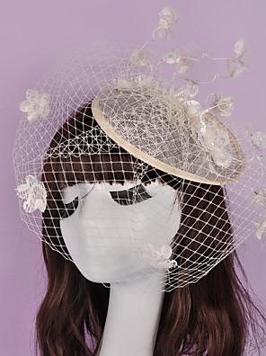 Ženy Proutěné zboží / len / Síť Přílba-Svatba / Zvláštní příležitost / Neformální / Outdoor Ozdoby do vlasů Jeden díl