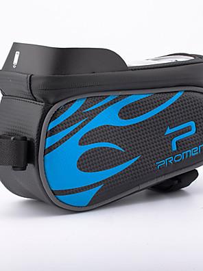 Promend® תיק אופניים 2.58Lתיקים למסגרת האופנייםמוגן מגשם / רוכסן עמיד למים / פס מחזיר אור / ניתן ללבישה / רב תכליתי / מסך מגע / מחזירי
