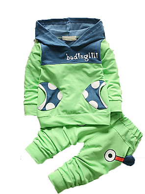 Boy's Casual/Daily Print Clothing Set,Cotton Fall Green / Pink / Purple / Yellow