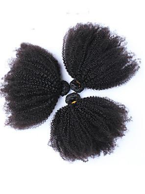 6a Peruaanse kinky krullend maagd haar 3pieces / veel afro kinky krullend maagd haar kan worden geverfd menselijk haar weeft natuurlijke