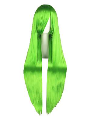 פאות קוספליי קוד Gease Cirno ירוק ארוך אנימה פאות קוספליי 100 CM סיבים עמידים לחום זכר / נקבה