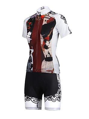 PALADIN® Camisa com Shorts para Ciclismo Mulheres Manga Curta MotoRespirável / Secagem Rápida / Resistente Raios Ultravioleta /