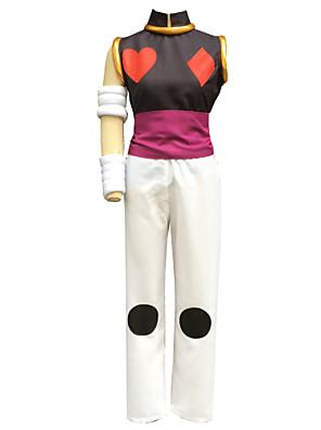 Inspirovaný Hunter X Hunter Hisoka Anime Cosplay kostýmy Cosplay šaty Jednobarevné Biały Bez rukávůVesta / Kalhoty / Páska na ruku /