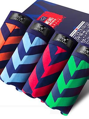 SHINO® Baumwolle / Bambous Carbon Faser Kurze Boxershorts 4 (4 Pcs/Box)-F013-A