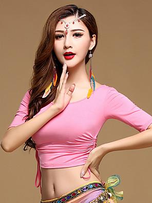 ריקוד בטן חלקים עליונים בגדי ריקוד נשים אימון מודאלי קפלים חלק 1 חצי שרוול טבעי עליוןSuitable Weight