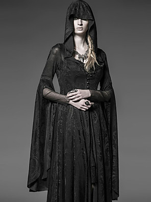 punk rave y-510 női szüreti vékony hosszú ujjú hosszú kabát