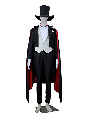 קיבל השראה מ מלח ירח Tuxedo Mask אנימה תחפושות קוספליי חליפות קוספליי אחיד לבן / שחור / אדום שרוולים ארוכיםגלימה / חליפת ערב / וסט /